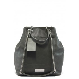 Дамска чанта - висококачествена еко-кожа - сиви - Marco Tozzi 2-61107-25 сив