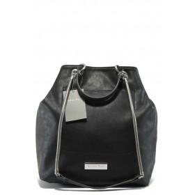 Дамска чанта - висококачествена еко-кожа - черни - Marco Tozzi 2-61107-25 черен