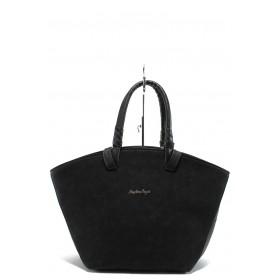 Дамска чанта - висококачествена еко-кожа - черни - EO-7713