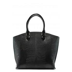 Дамска чанта - висококачествена еко-кожа - черни - EO-7788