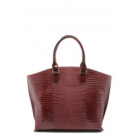 Дамска чанта - висококачествена еко-кожа - бордо - EO-7789