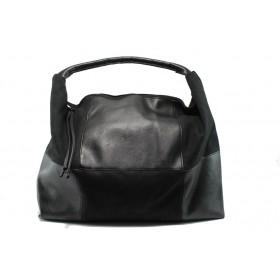 Дамска чанта - висококачествена еко-кожа - черни - EO-7816