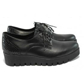 Дамски обувки на платформа -  - черни - EO-6019