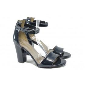 Дамски сандали - еко кожа-лак - сини - EO-6382
