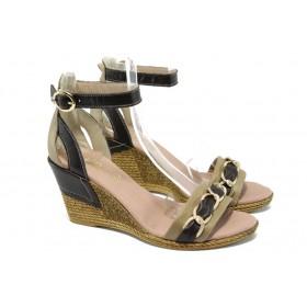 Дамски сандали - естествена кожа - бежови - EO-6415