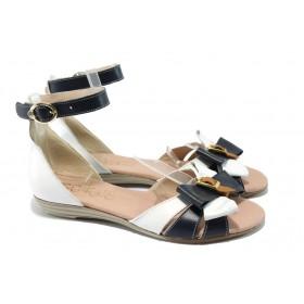 Дамски сандали - естествена кожа - бели - EO-6550