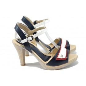 Дамски сандали - висококачествена еко-кожа - бели - EO-6598
