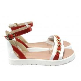 Дамски сандали - естествена кожа - бели - EO-6607