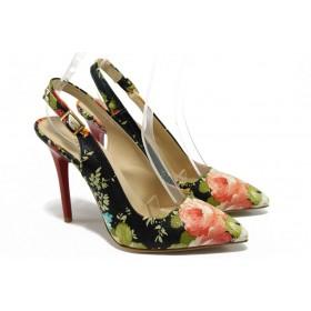 Дамски обувки на висок ток - висококачествена еко-кожа - черни - EO-6611
