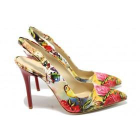 Дамски обувки на висок ток - висококачествена еко-кожа - бели - EO-6612