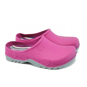 Дамски чехли - висококачествен pvc материал - розови - EO-6630