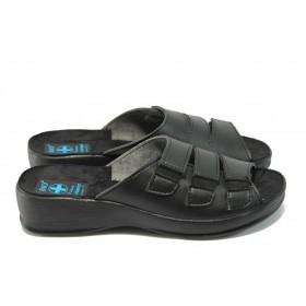Дамски чехли - висококачествена еко-кожа - черни - МА 13942 черен