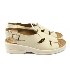 Дамски сандали - висококачествена еко-кожа - бежови - МА 15748 бежов