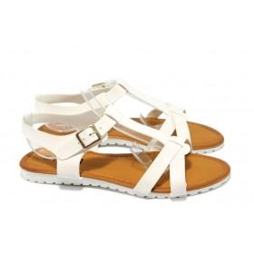 Дамски сандали - висококачествена еко-кожа - бели - РС 9773 бял