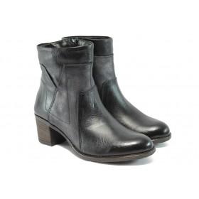 Дамски боти - естествена кожа - черни - ИО 1621 черен