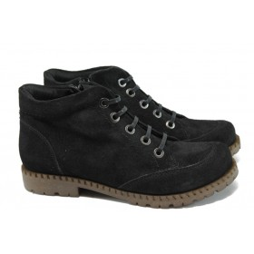 Дамски боти - естествен велур - черни - ГА 828-9 черен