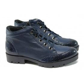 Дамски боти - естествена кожа - сини - ГА 828-67 синя кожа