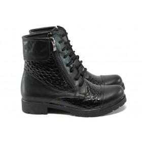 Дамски боти - висококачествена еко-кожа - черни - МИ 263 черен