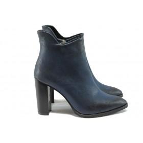 Дамски боти - висококачествена еко-кожа - сини - EO-7383
