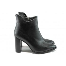 Дамски боти - висококачествена еко-кожа - черни - EO-7440