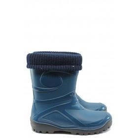 Дамски ботуши - висококачествен pvc материал - сини - EO-7622