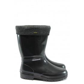 Дамски ботуши - висококачествен pvc материал - черни - EO-7623