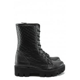 Дамски боти - висококачествена еко-кожа - черни - EO-7657