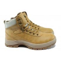 Юношески боти - висококачествена еко-кожа - жълти - EO-7810