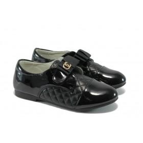 Детски обувки - еко кожа-лак - черни - EO-6099
