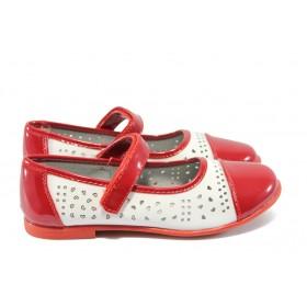 Детски обувки - еко кожа-лак - червени - EO-6245