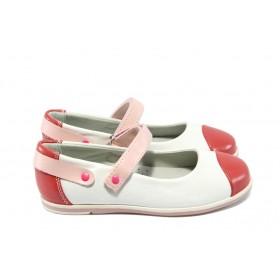 Детски обувки - висококачествена еко-кожа - бели - EO-6254