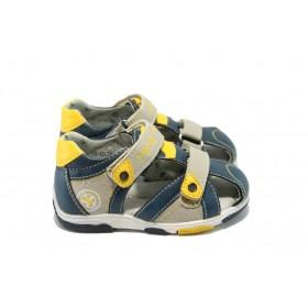 Детски сандали - висококачествена еко-кожа - сини - EO-6308