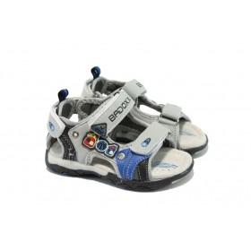 Детски сандали - висококачествена еко-кожа - сиви - EO-4539