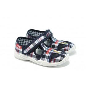 Детски сандали - висококачествен текстилен материал - сини - EO-6309