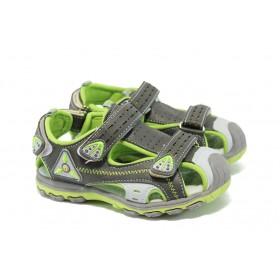 Детски сандали - висококачествена еко-кожа - сиви - EO-6516