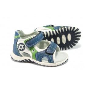 Детски сандали - висококачествена еко-кожа - сини - КА 537 син 25/30