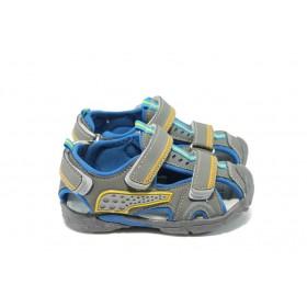 Детски сандали - висококачествена еко-кожа - сиви - EO-6585