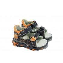 Детски сандали - висококачествена еко-кожа - тъмносин - КА 535 т.син 20/25