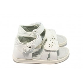 Детски сандали - висококачествена еко-кожа - бели - EO-6530