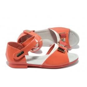 Детски сандали - еко кожа-лак - розови - EO-6525