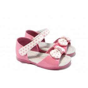 Детски сандали - еко кожа-лак - розови - EO-6529