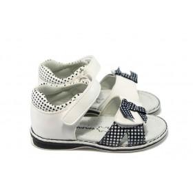 Детски сандали - висококачествена еко-кожа - бели - EO-6536