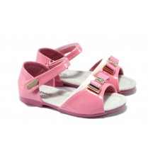 Детски сандали - еко кожа-лак - розови - EO-6526