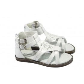 Детски сандали - висококачествена еко-кожа - бели - EO-6537