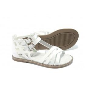 Детски сандали - висококачествена еко-кожа - бели - EO-6538