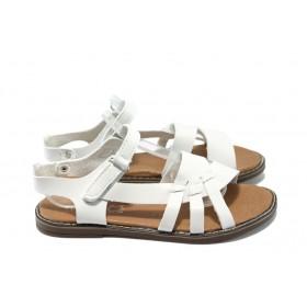 Детски сандали - висококачествена еко-кожа - бели - EO-6540