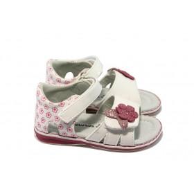 Детски сандали - висококачествена еко-кожа - бели - КА 746 бели