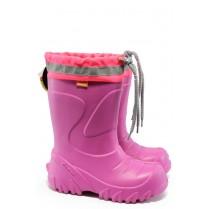 Детски ботуши - висококачествен pvc материал - розови - EO-7333