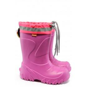 Гумени детски ботуши - висококачествен pvc материал - розови - EO-9378