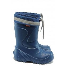 Гумени детски ботуши - висококачествен pvc материал - сини - EO-9379